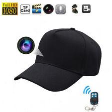 32GB Mini HD 1080P Black Baseball Cap TRUCKER Hat Spy Camera Remote control DVR