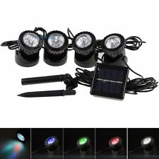 Set of 4x6 LEDs Solar Powered Spotlight Lamp Color Changing Waterproof Pool Pond