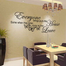 Butterfly Here Wall Quote home Stickers Vinyl Decal Removable Mural DIY Art