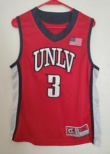 UNLV Runnin' Rebels #3 NCAA Basketball Jersey Sz Youth Medium Viva Las Vegas LV
