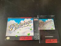 USED SNES Display BOX Super Nintendo Pilotwings Box Only (empty no game) Manual