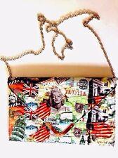 Marilyn Monroe Magazine GLAM Multi Graphic Envelope Clutch Shoulder Bag NWOT