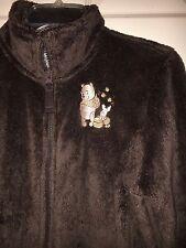 Disneyland Resort Winnie the Pooh Women's Fleece Zip-up Jacket Brown Size S EUC