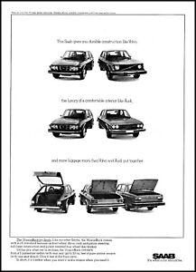 1975 Saab WagonBack automobile car AB Sweden vintage photo Print Ad ads27
