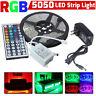 5m RGB 5050 DE COLORES TIRA DE LUCES LED Decoración SMD 44 Llave a distancia 12v