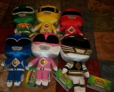 NWT POWER RANGERS LOT (6) MIGHTY MORPHIN POWER RANGERS HERO PLUSHIES IN HAND
