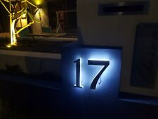 LED Illuminated Numbers House Farm Sign Stainless Steel Marine Grade 3D
