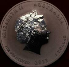 Uncirculated 2012 AustraliaYear of the Dragon .999 Silver 1oz Foreign Coin