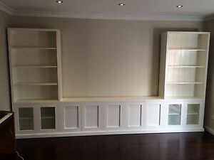"""Bomi-1.0"" Integrated TV Entertainment Wall Unit Bookshelf Living Room Furniture"
