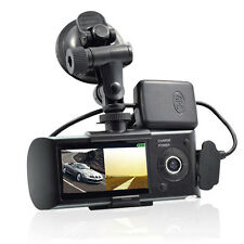 Full HD 1080P Car DVR Camera Video Recorder Dash Cam G-Sensor GPS Dual Lens
