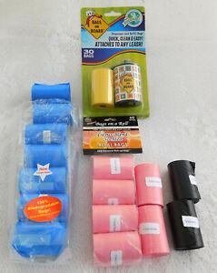 "NEW ""Bags on Board"" Dog Poop Waste Bag Dispenser & 17 Refills (15 Bags per Roll)"
