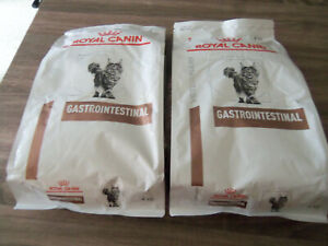 Lot 2 sacs 4kg croquettes chat ROYAL CANIN Veterinary Gastrointestinal 21/08/'22