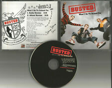 BUSTED What I go to school for w/ RARE RADIO VERSION TRK PROMO DJ CD Single 2003