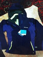 NWT WOMEN's PURPLE AND YELLOW COLUMBIA HOODED COAT/JACKET 2 COATS IN ONE SIZE S