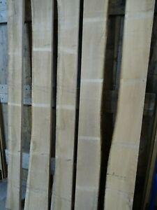 Kiln Dried Prime European Oak, Waney Edge, Live Edge For Shelving,Sawn 150mm