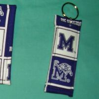 New COASTERS SET of 4 and/or KEYCHAIN key ring UNIVERSITY of MEMPHIS TIGERS NCAA