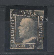FRANCOBOLLI 1859 SICILIA 20 GR. Z/3498