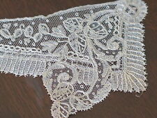 Vtg Antique Brussels Needle Point Lace 19th Century Ladies Cuffs Handmade
