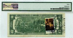 $2 DOLLARS 1976 STAMP CANCEL SHAMBAUGH IA 51651 LUCKY MONEY VALUE $3000