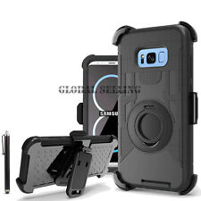 Samsung GALAXY Hybrid Impact Armor Rugged Rubber Hard Case Cover Clip Holster