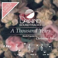 A Thousand Years - Christina Perri - Accompaniment CD New