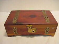 BB OLD WOOD-WOODEN JEWLERY BOX TRINKET BOX ORGANIZER STORAGE DOVE TAIL