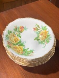 H42005 Vintage Royal Albert tea Rose Small Bowls Set of 7