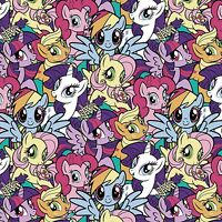 Hasbro My Little Pony Pack Gang Flannel 100% cotton flannel fabric by the yard