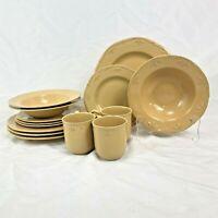 14 PIECE ODD LOT THOMSON POTTERY SICILY DINNERWARE DINNER SALAD PLATE BOWL MUG