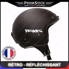 Kit 4 Stickers Retro Reflechissant DC Shoes ref5; Casque Moto autocollant