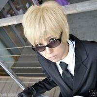 Axis Powers Hetalia England Short Layered Blonde Anime Cosplay Hair Wig