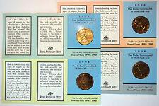 1998 - Howard Florey Dollar Coins - All 5 Mint marks A, B, C, M, S - 5 coins