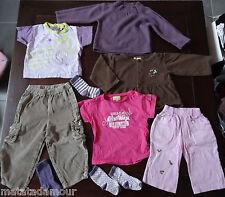 Pull, 2 T-shirts, 2 pantalons, 3 paires de chaussettes, Gilet marron 24mois/2ans
