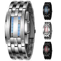 Orologio da polso con LED digitale a forma di lega da uomo V4A5