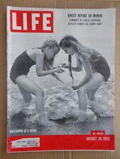 LIFE magazine August 24 1953 BALLERINAS-Roman Holiday AUDREY HEPBURN-Car Lincoln
