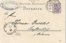 GERMANY T.P.O. DRESDEN KOHLFURT CANCEL ON POSTCARD 1888   MY REF 515