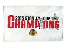 "Chicago Blackhawks Towel NHL 2015 Stanley Cup Champions Locker Room 21"" x 44"""