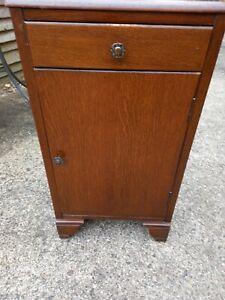 Vintage Mid Century Lebus 60s Bedside Cabinet Table Cupboard Storage Unit