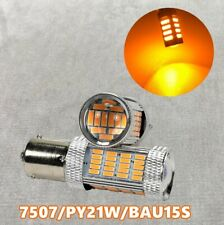 Rear Turn Signal Light BAU15S 7507 PY21W 92 High Power LED Amber Bulb W1 JAE