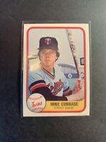 1981 Fleer #566 Mike Cubbage Minnesota Twins