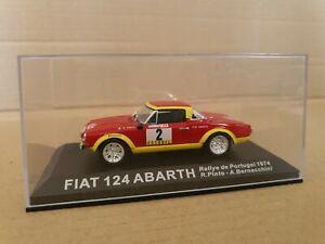 DEAGOSTINI DIECAST FIAT 124 ABARTH RALLY 1974  PINTO/BERNACCHINI - DISPLAY BOX