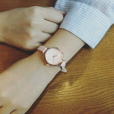 Womens Ladies Faux Leather Casual Watch Small Dial Delicate Quartz Wrist Watches
