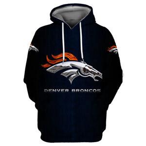 Denver Broncos Hoodies Sweatshirts Men's Casual Pullover Fans Gifts Jacket Coat