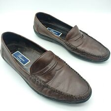 Cole Haan Bragano Mens Size 10.5 M Brown Red Dress Penny Loafers A3714