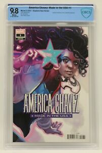 America Chavez Made in the USA (2021) #1 Hans Cover CBCS 9.8 Blue Lbl White Pgs