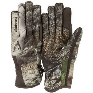 Huntworth Mossy Oak Mountain Men's Stealth Hunting Mid-weight Gloves: M/L-L/XL