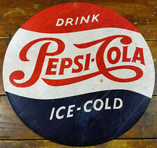 2 sizes - Large and Jumbo Modern Round Pepsi Cola Metal Wall Sign