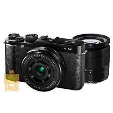 NEW BOXED FUJIFILM X-M1 XM1 + XC 16-50mm + XF 27mm LENS KIT / BLACK #