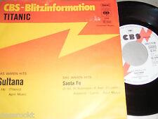 "7"" - Titanic Sultana & Santa Fe - 1971 Promo White Label # 6486"