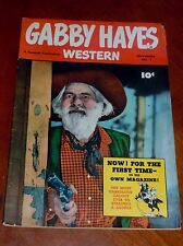 GABBY HAYES WESTERN #1 (FAWCETT 1949)  FINE cond. Photo covers SHARP COPY!!